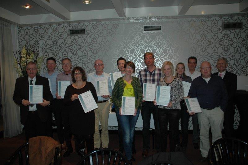 EMCAS - foto van uitreiking certificaten